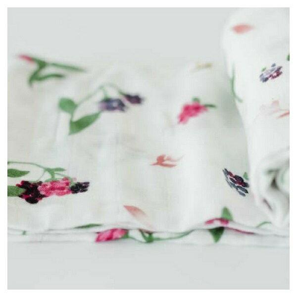 美國【Little Unicorn】竹纖維紗布巾單入組/包巾-野莓果