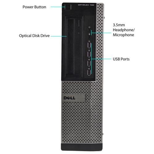 Dell OptiPlex 790 Desktop Computer - Intel Core i5 (2nd Gen) i5-2400 3.10 GHz - 4 GB DDR3 SDRAM - 1 TB HDD - Windows 7 Professional 64-bit - Desktop - Refurbished - DVD-Writer DVDR/RW - 11 x Total USB Port(s)