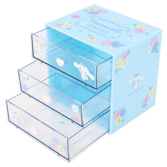 大耳狗Cinnamoroll3層桌上置物櫃,置物盒 / 收納盒 / 抽屜收納盒 / 筆筒 / 桌上收納盒,X射線【C707036】 2