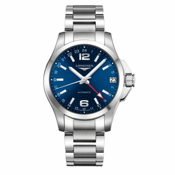 LONGINES 浪琴 L36874996 征服者動力儲存機械腕錶/藍面41mm