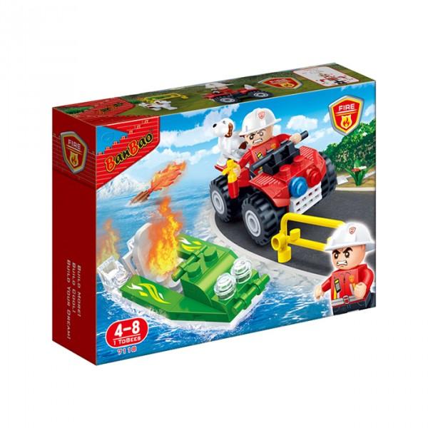 【BanBao 積木】新消防系列-緊急救火 7118  (樂高通用) (單筆訂單購買再加送積木拆解器一個)