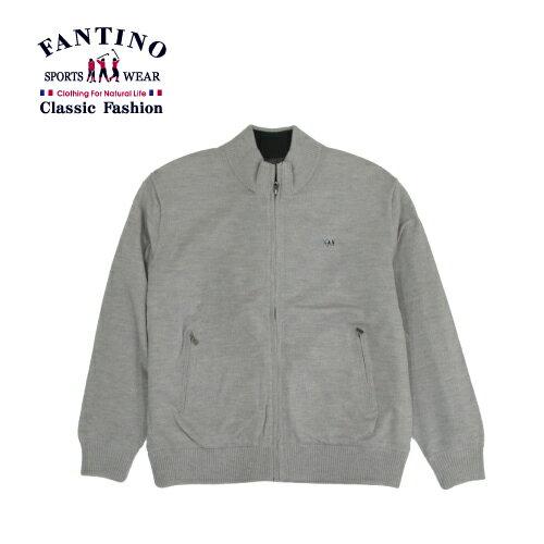 【FANTINO】男裝 雙面翻穿實搭保暖羊毛外套(灰) 045354