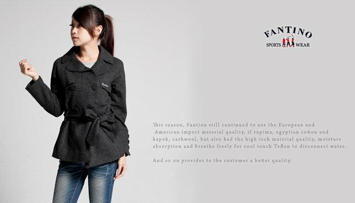 【FANTINO】女款 氣質雙排鈕扣外套(灰色 ) 085307 1