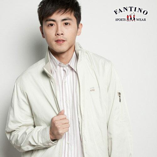 【FANTINO】男裝  羅紋立領 超薄防風外套 (杏色)135129