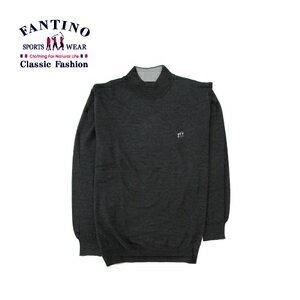 【FANTINO】男裝 保暖好穿搭100%羊毛衣 (黑.鐵灰) 147304-147305 2