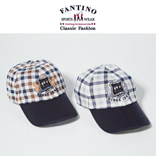 【FANTINO】男款 格紋休閒遮陽帽(褐、藍)039201-039202