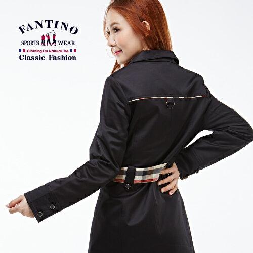 【FANTINO】女裝 法式風情長版風衣洋裝(黑)182301 2