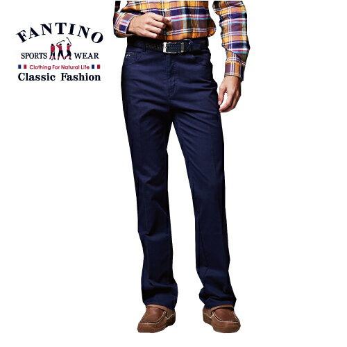 【FANTINO】男性好穿搭休閒棉褲 (藍.卡其) 443115.443116