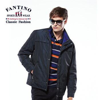 【FANTINO】男裝 保暖風衣外套 (深藍) 445112 - 限時優惠好康折扣