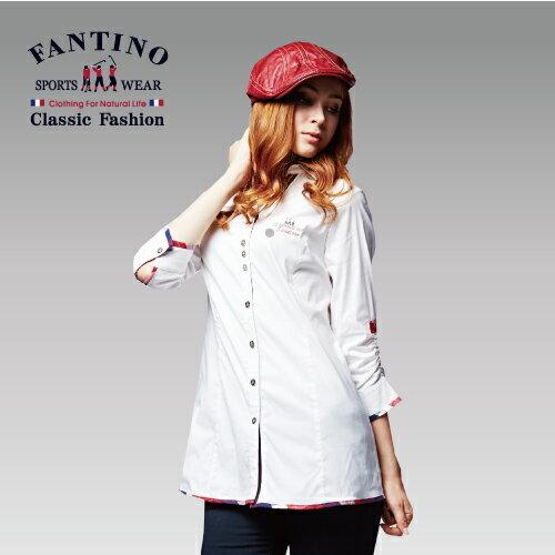 <br/><br/> 【FANTINO】女裝 個性拼接襯衫(白) 484108<br/><br/>