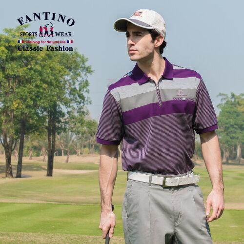 【FANTINO】男裝 夏日搶色65支雙絲光棉衫(果綠.紫)431319-431320 0