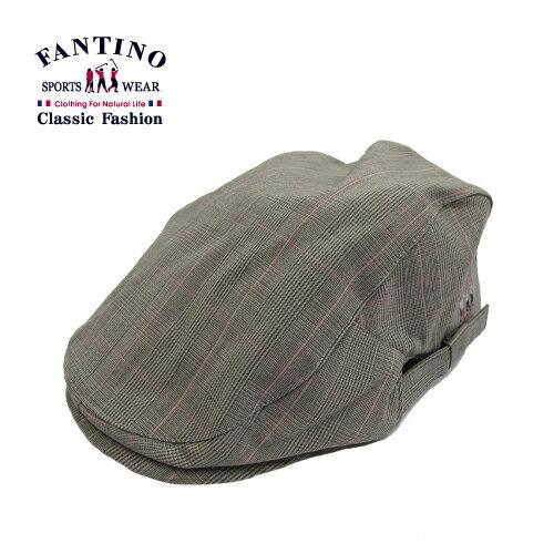 【FANTINO】男款 時尚格紋鴨舌帽(紫灰.粉灰)449201-449202 2