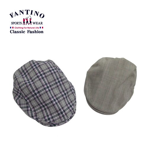 【FANTINO】男款 時尚格紋鴨舌帽(紫灰.粉灰)449201-449202 0