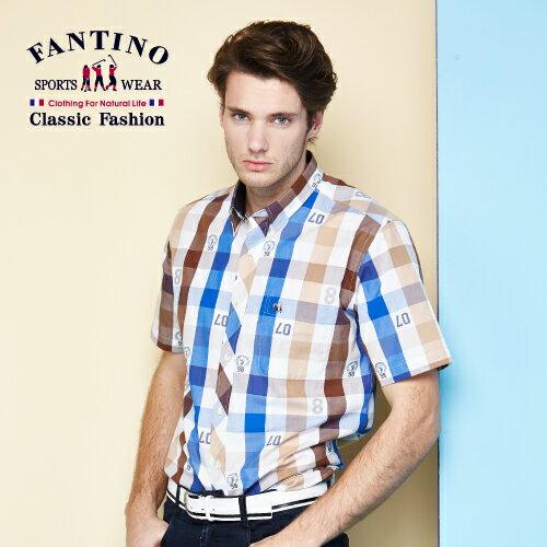 【FANTINO】 男裝 熱銷款奧地利進口海軍風格紋襯衫  534307 - 限時優惠好康折扣