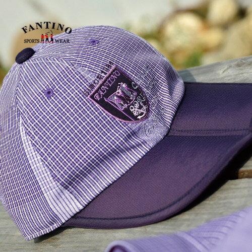 【FANTINO】男款 舒適透氣埃及棉棒球帽(灰格.紫格)339202-339203