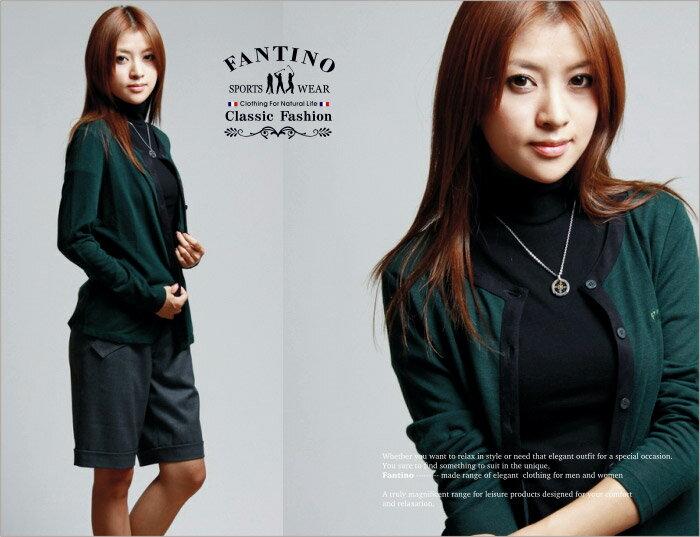 【FANTINO】女裝 零碼出清46/M輕薄羊毛小外套(綠)725643