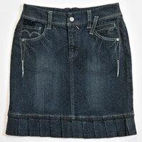 【FANTINO】女裝 超優質感牛仔裙(深藍)963204