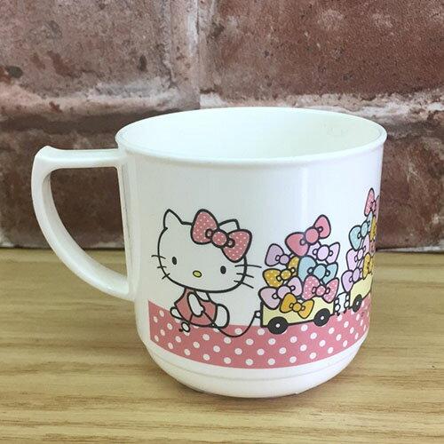 【真愛日本】 17071300021 單耳水杯-KT拿蝴蝶結白 三麗鷗 kitty 凱蒂貓 茶杯 杯子