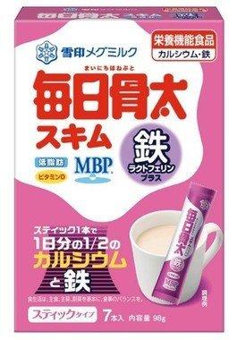 日本進口 日本雪印 每日骨太 奶粉 七包入 伊能靜推薦~正品日本雪印每日骨太補鐵bu血高鈣低脂奶粉