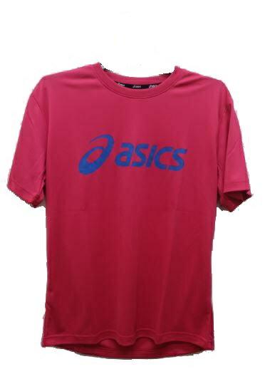 [陽光樂活=] ASICS 亞瑟士 慢跑 圓領短袖排汗T恤 大字樣 K31401-16 桃