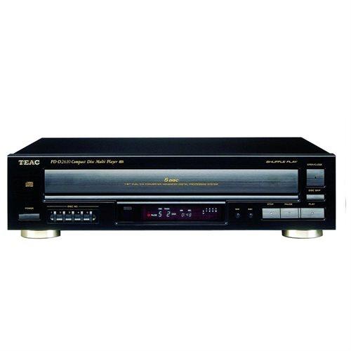 Teac PD-D2610MKII 5-Disc Carousel CD Changer - CD-RW - CD-DA, MP3, WMA  Playback - 5 Disc(s) - 32 Programmable Track(s) - Black