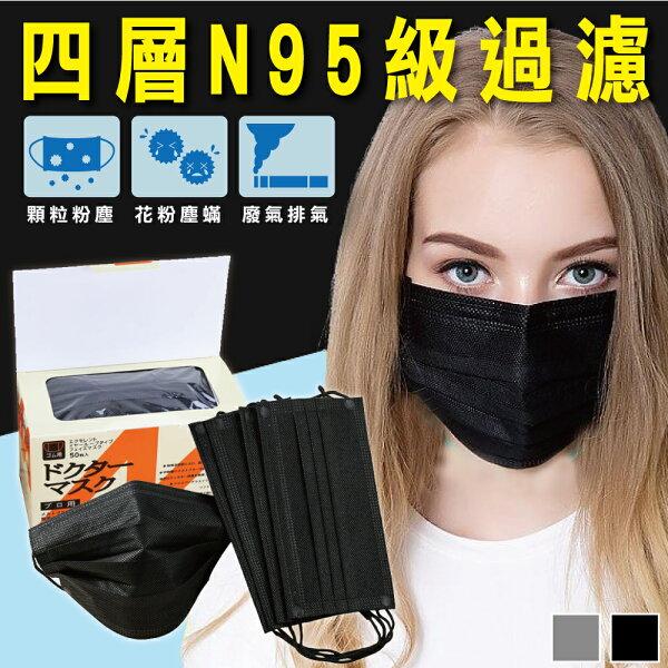 愛瘋誌:HelloLife高防護四層活性碳防塵口罩(50入)
