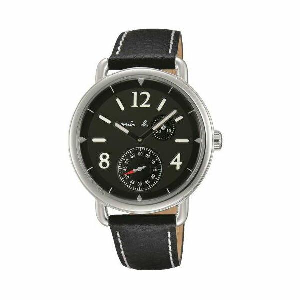 agnesbVD73-KV10D(BW2005X1)文青動感小秒針腕錶黑面40mm
