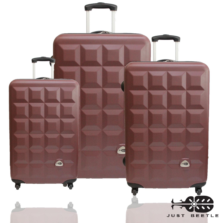 ?Just Beetle 趣味巧克力系列ABS輕硬殼3件組旅行箱/行李箱