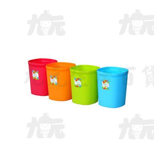【九元生活百貨】聯府 CF-10 好運花方型中垃圾桶 CF10