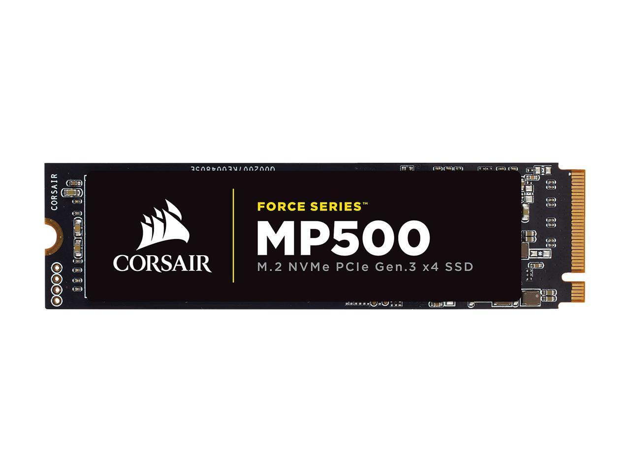 Corsair SSD Force Series MP500 M.2 2280 240GB NVMe PCI-Express 3.0 x4 MLC 240G PCIe Gen. 3 Internal Solid State Drive CSSD-F240GBMP500 1