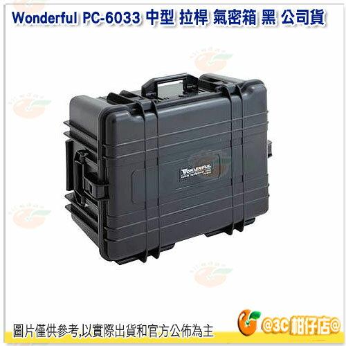 可 Wonderful PC~6033 中型 拉桿 氣密箱 黑 貨 保護箱 旅行箱 防水