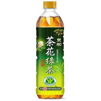 黑松 茶花綠茶 無糖 580ml