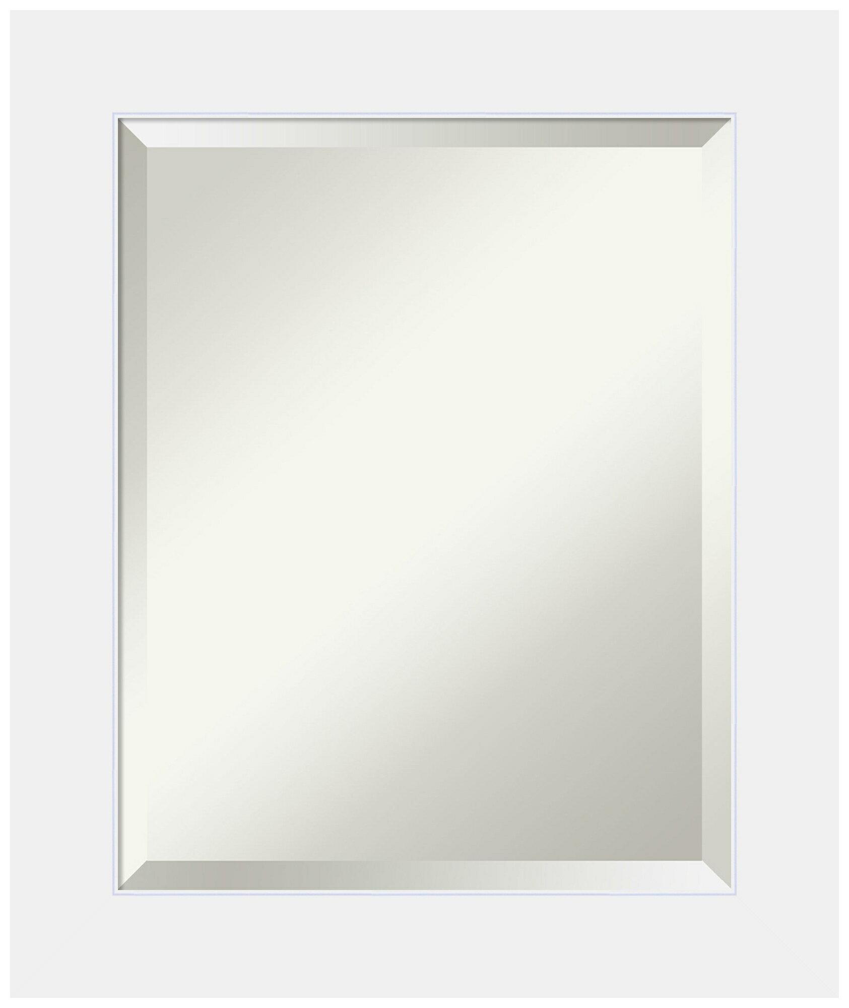 Vanity Mirror.Bathroom Vanity Mirror Corvino White Wood
