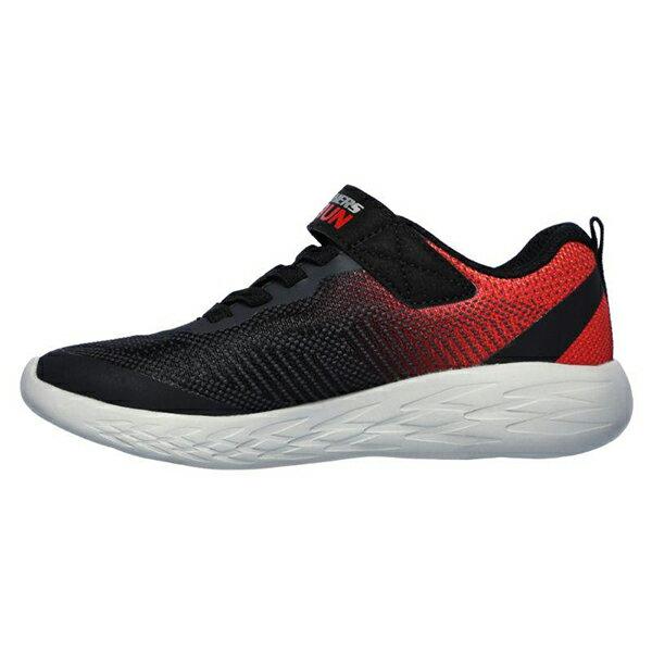 Shoestw【97867LBKRD】SKECHERS GO RUN 600 中童鞋 運動鞋 慢跑鞋 黑紅灰 黏帶 2