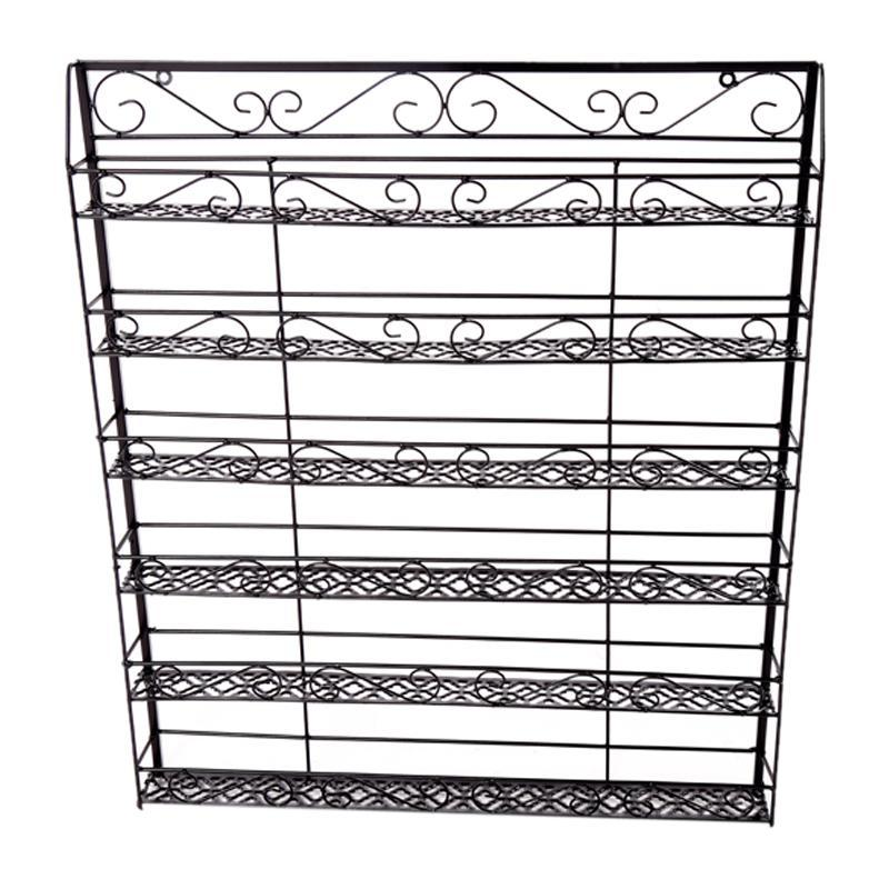 Wire Display Organizer Metal Nail Polish Rack Black 0