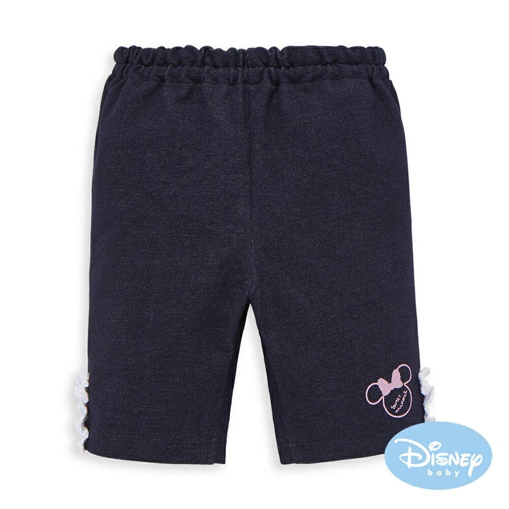 Disney baby 甜柔蕾絲米妮短褲-深藍