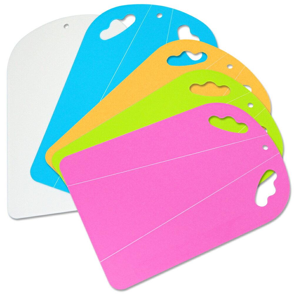 WallyFun 可折式 好握抗菌料理砧板-1組2入 (可折式+平面式) ~顏色隨機