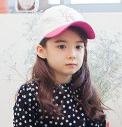 Kocotree◆ 魔幻清新 漸層字母韓系花紋兒童鴨舌帽休閒 棒球帽~玫紅