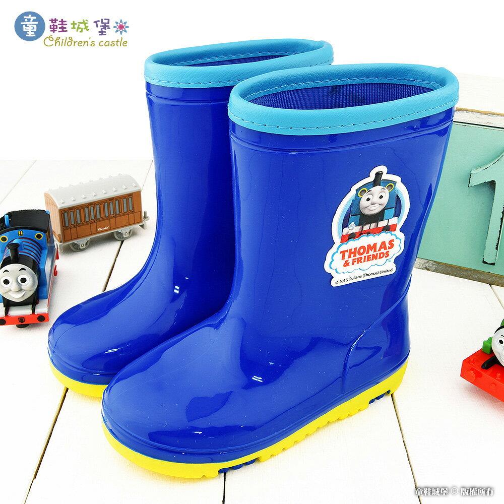 湯瑪士 雙色大底 中筒雨靴 TH7001 藍【童鞋城堡旗艦店】