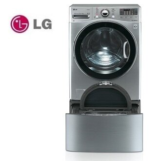 TWINWash 含基本安裝 LG WD-S18VCD+D250HV (雙能洗)變頻蒸洗脫烘滾筒洗衣機 18公斤+2.5公斤 典雅銀 公司貨 樂金