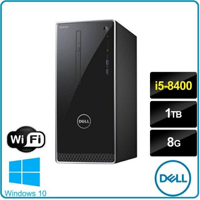 賣電腦 DELL 載爾 Inspiron  3670-R2508STW i5六核桌機 i5-8400/ 8G/ 1TB/ GTX1060-3G/ DRW/ Win10/ 3年到府維修