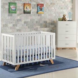 *babygo*預購:)LEVANA【三合一】SOHO 實木製四合一嬰兒床組合價(2色)