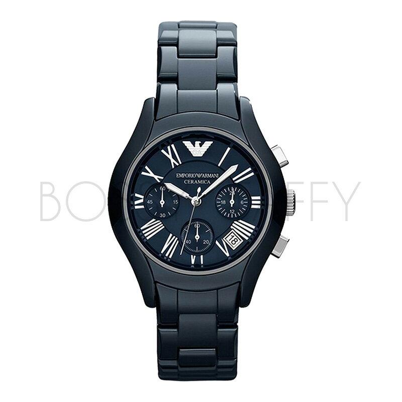 AR1469 AR1470 ARMANI  亞曼尼 時尚三眼石陶瓷帶石英情侶對錶 女錶 男錶