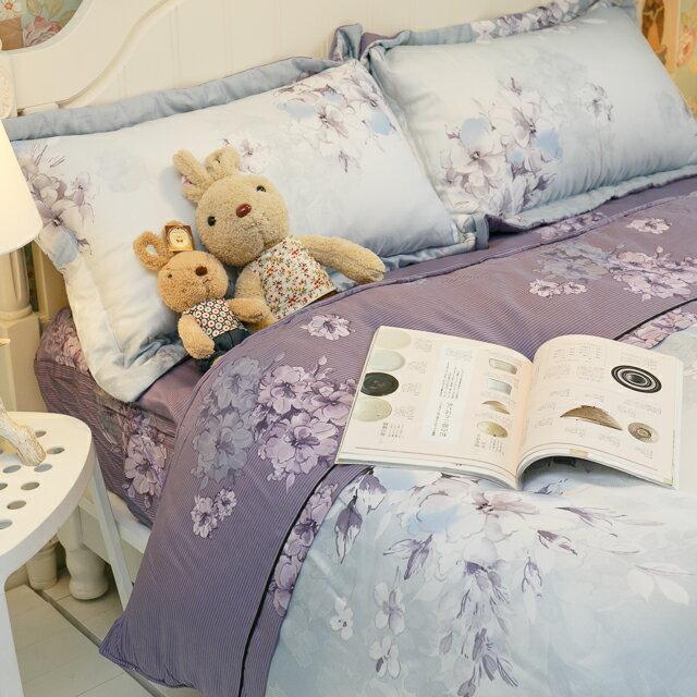 天絲床組 紫花風鈴木 尺寸 賣場 100^%木漿纖維 ~  好康折扣