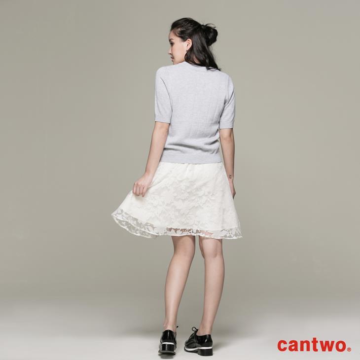 cantwo針織烏干紗兩件式洋裝(共二色) 3