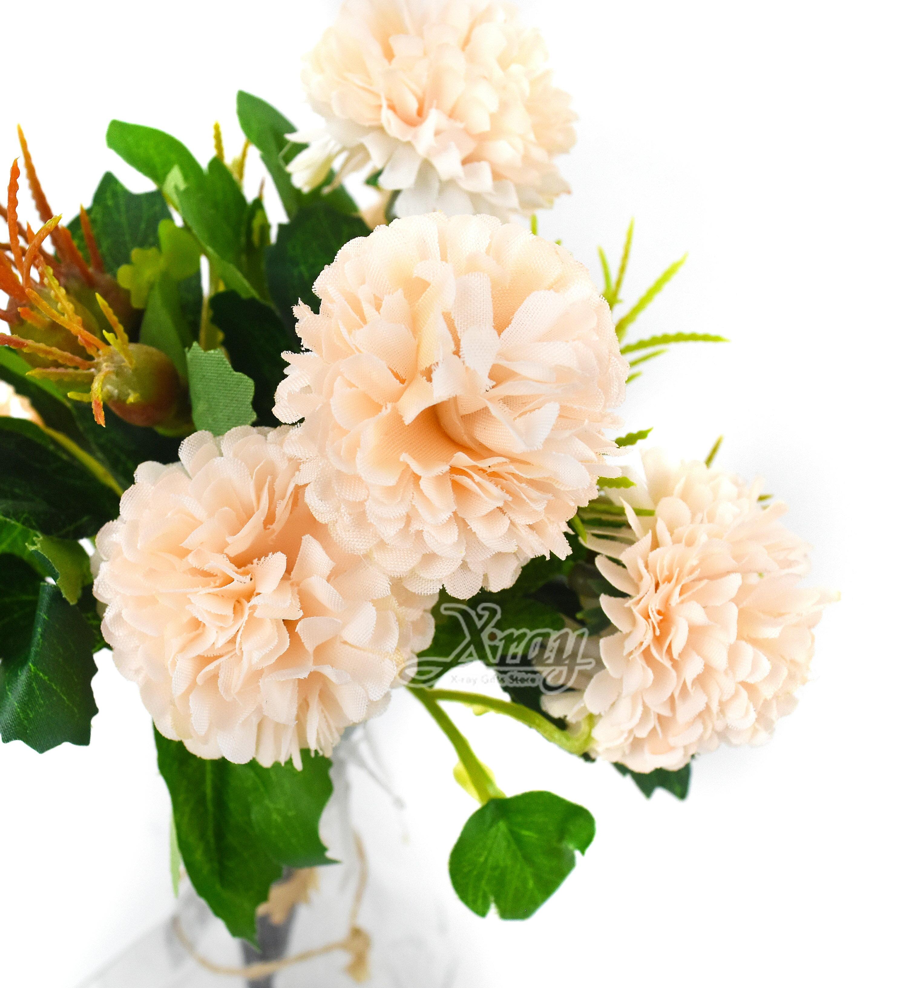 X射線【Y039130】乒乓菊-淺橘,仿真花 人造花  家飾 婚禮小物 佈置 裝飾 幼兒園 送禮  髮飾 活動佈置 花束 花園 陽台