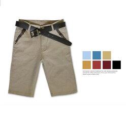 (3件999)七色韓版拼接休閒短褲( 中大尺碼 休閒 短褲 男性 夏天 Cargo Shorts)