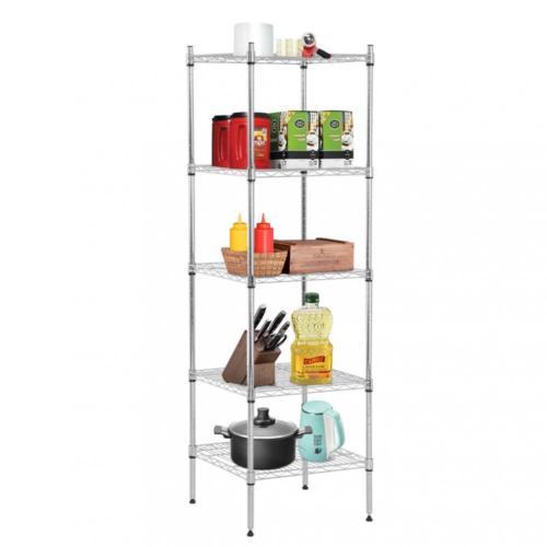 Wire Storage Shelf | Factory Direct 5 Shelf Wire Shelving Unit Metal Nsf Wire Shelf
