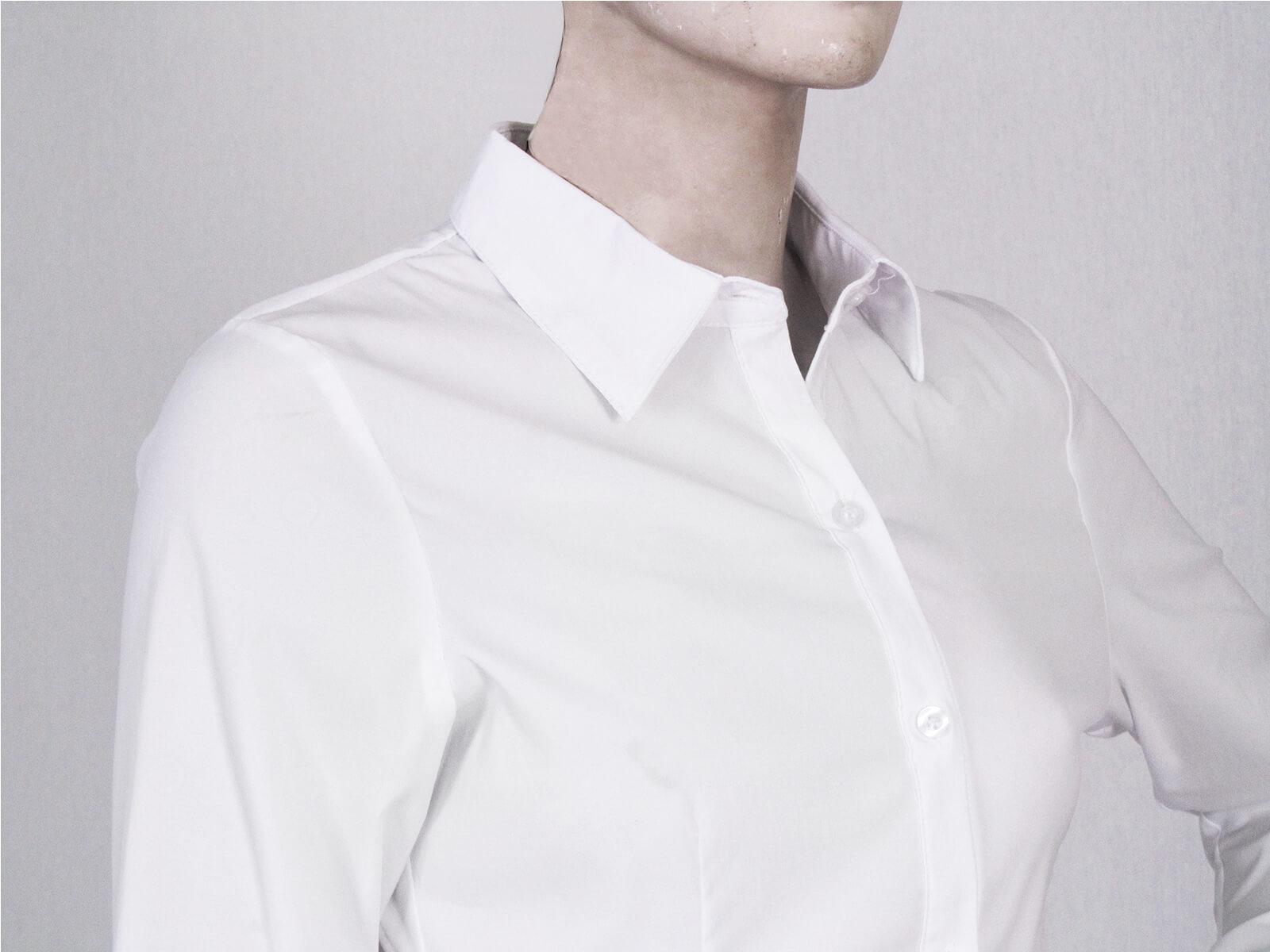 腰身剪裁淑女素面襯衫 修身長袖襯衫 合身顯瘦標準襯衫 正式襯衫 面試襯衫 上班族襯衫 商務襯衫 防曬襯衫 (333-A261-01)素面白色襯衫、(333-A261-21)素面黑色襯衫 胸圍32~50英吋 [實體店面保障] sun-e333 3