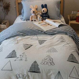 黑白森林 床包/被套/兩用被/枕套 單品賣場 100%復古純棉